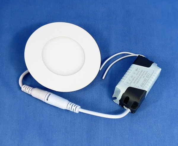 LED Panel-Einbaustrahler rund