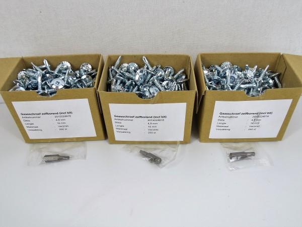 Drahtschrauben 750 Stück 4,8 x 16 mm