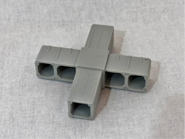 Kreuz, grau, 20 x 20 x 15 mm