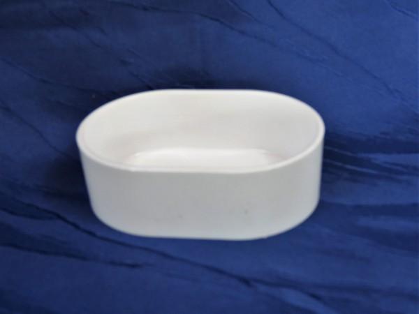 Napf oval weiß für Futtertisch