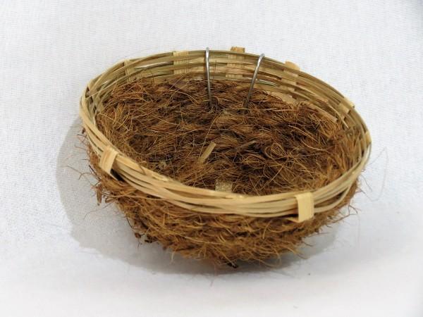 Bambus Nestkörbchen mit Kokosfaser Ø = 13 cm