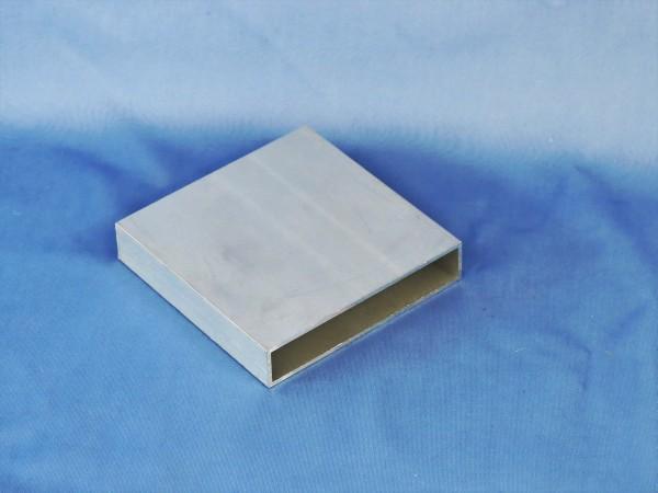 Aluminium-Vierkantrohr 100 × 20 × 2 mm