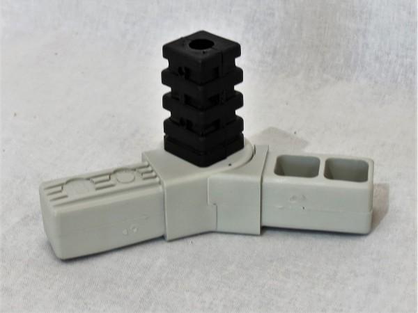 Drehgelenk mit Abgang 45 - 195° 25 x 25 x 1,5 mm