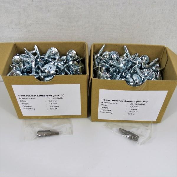 Drahtschrauben 500 Stück 4,8 x 16 mm
