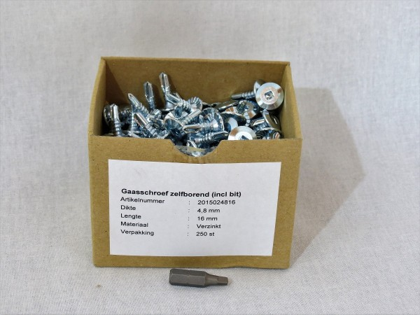 Drahtschrauben 250 Stück 4,8 x 16 mm