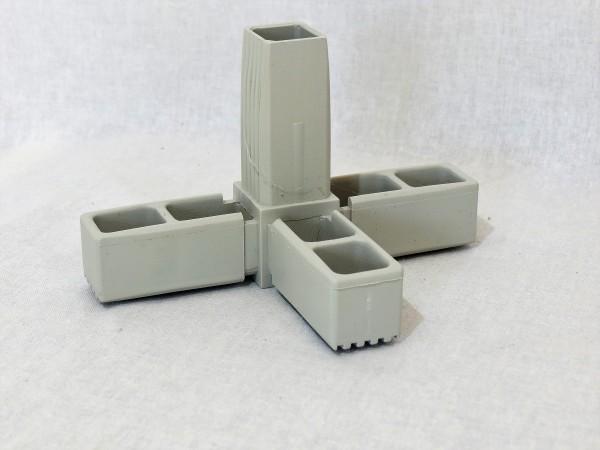 T-Stück mit Abgang 25 x 25 x 1,5 mm