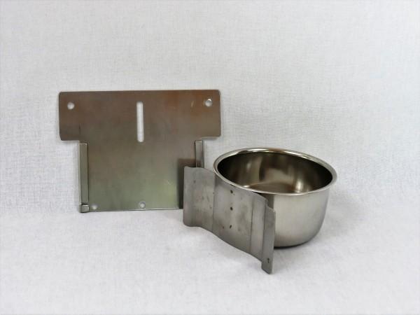 Edelstahlnapf mit Schiebe-Halter 300 ml