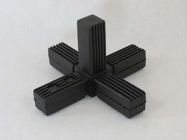 Kreuz mit Abgang & Stahlkern 25 x 25 x 1,5 mm