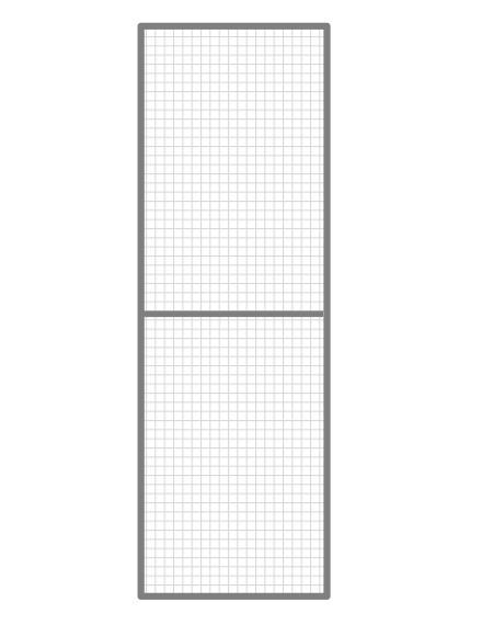 Volierenelement 50 x 200 cm
