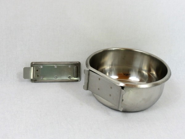 Edelstahlnapf mit Klickhalter 300 ml