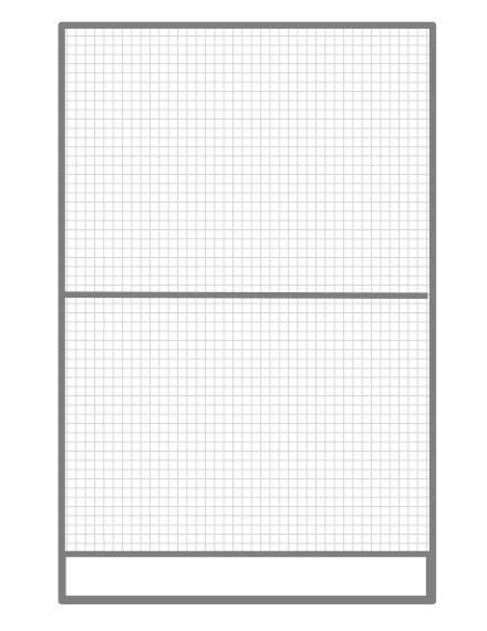 Volierenelement 102 x 200 cm