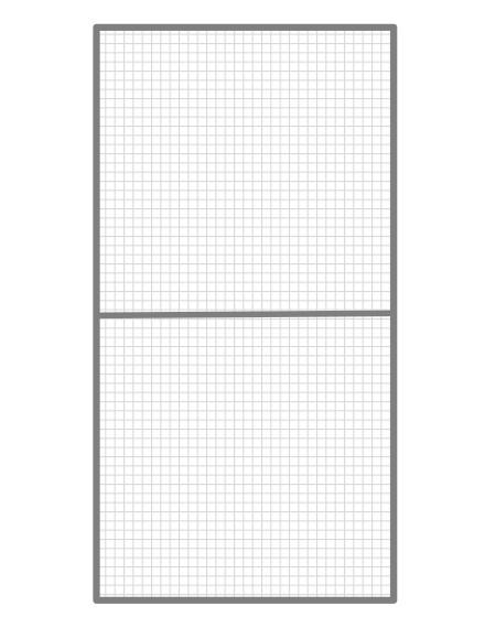 Volierenelement 82 x 200 cm