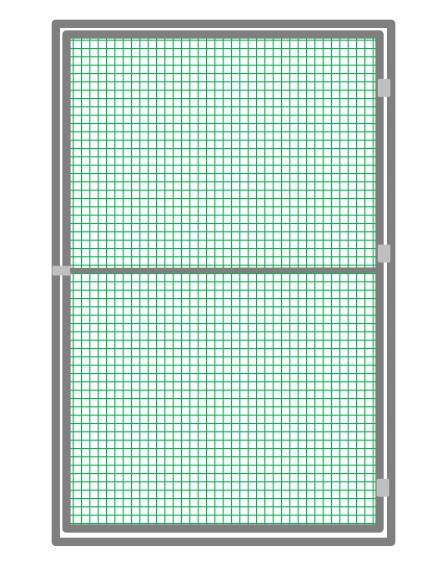 Türelement 102 x 200 cm grün