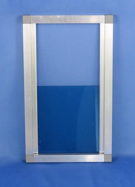 Beispielbild: Ausflugschieber 22,5 x 38 cm, innen 16 x 17 cm, Plexiglas blau getönt