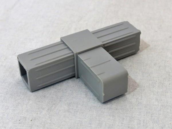 T-Stück, grau, 20 x 20 x 1,5 mm