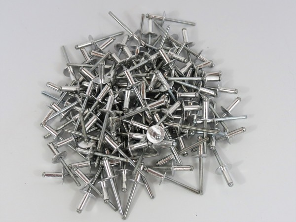 Poppnieten 100 Stück 4,8 x 12,5 x 14 mm