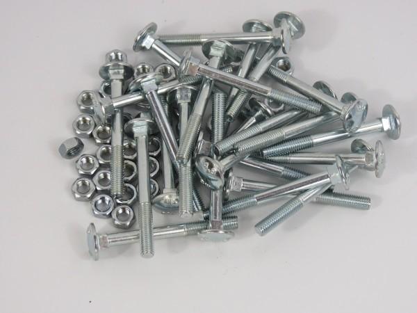 Schlossschrauben 50 Stück M5 x 50 mm